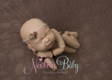 Flower Hair Tie | Newborn Baby Posing Ltd